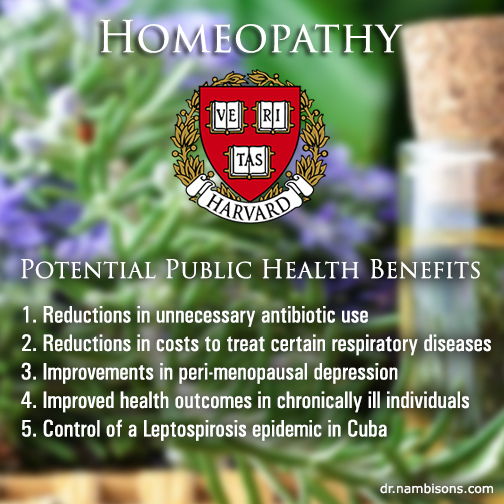 Harvard: Homeopathic public health benefits